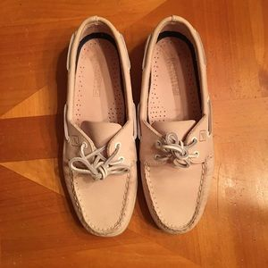 Limited edition pink Sperry Topsiders